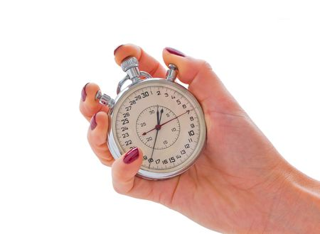Stop-watch in a hand Stock Photo - 6742568
