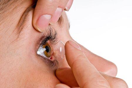 contact lens photo