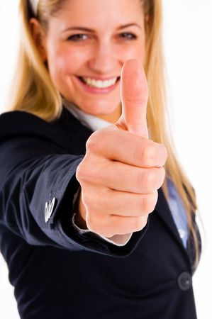 woman with thumb up photo