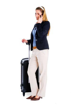 Traveling Business woman photo