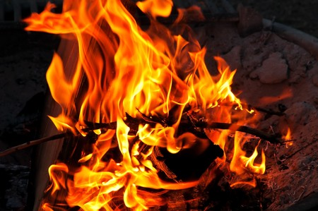 snugly: Campfire Stock Photo