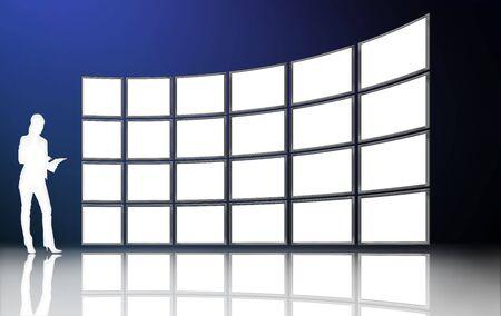 tv screens Stock Photo