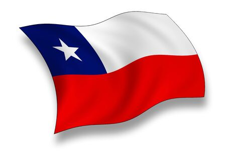 chilean flag: Bandera de Chile  Foto de archivo