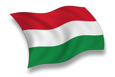 wave crest: Flag of Hungary Stock Photo