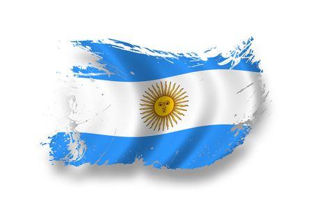 flag of argentina: Bandera de Argentina  Foto de archivo
