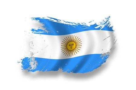 grunge flag: Flag of Argentina