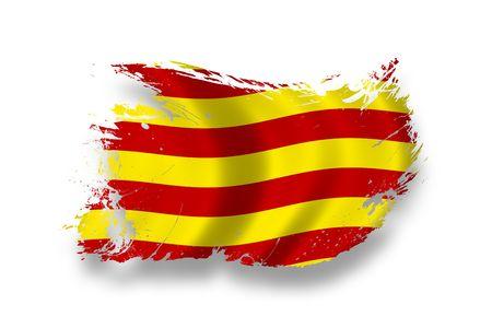 Bandera de Cataluña  Foto de archivo