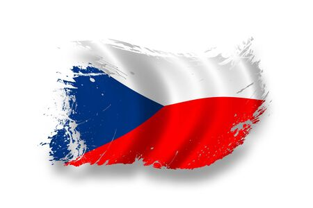 Flag of Czechs Stock Photo - 7734295