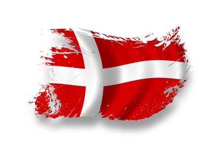 danish flag: Flag of Denmark Stock Photo