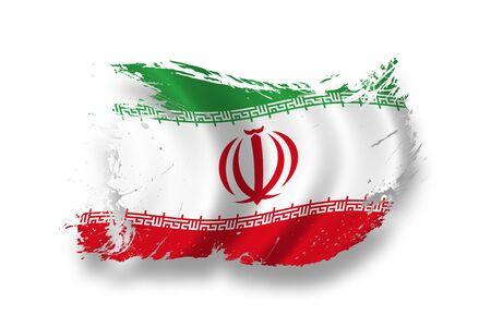 iran: Flag of Iran