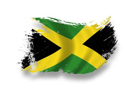 black flag: Flag of Jamaica