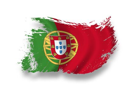 portuguese: Flag of Portugal Stock Photo