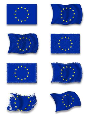 Flag of European  Union photo