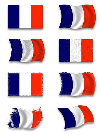 french culture: Flag of France Stock Photo