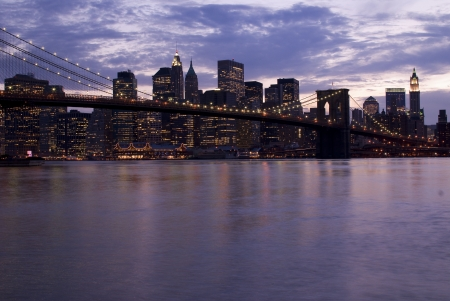 Manhattan and Brooklyn Bridge photo