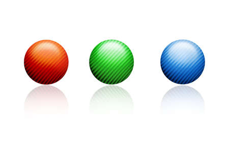 dominating: 3d illustration of balls  Stock Photo