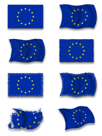 Flag of Europe  Union photo