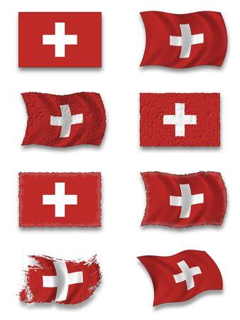 nacional: Bandera de Suiza Foto de archivo