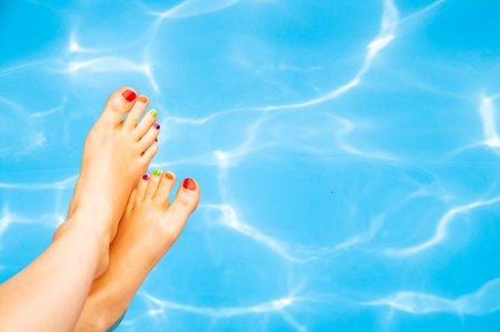 sexy feet: Sexy girl legs  Stock Photo