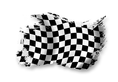 high end: race flag  Stock Photo