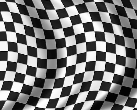 one vehicle: race flag