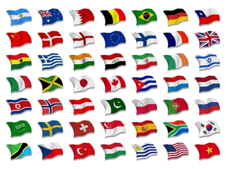 Mix Flags Stock Photo - 8649987