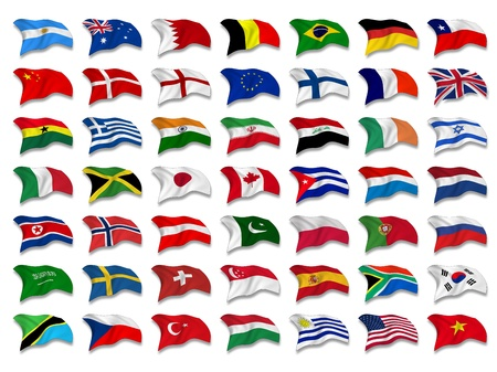 Mixed Flags Stock Photo - 8650382