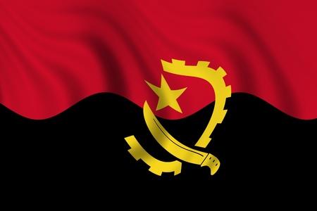 angola: flag of angola Stock Photo