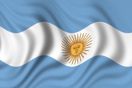 flag of argentina Stock Photo - 8826926