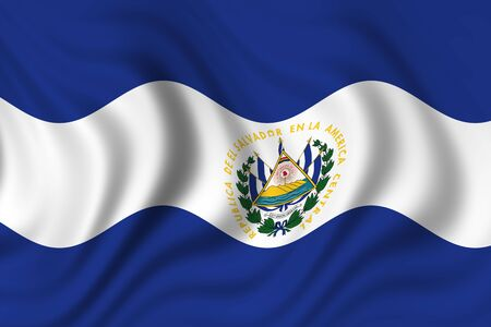 flag of el salvador photo