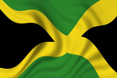 flag of jamaica  Stock Photo - 8895544