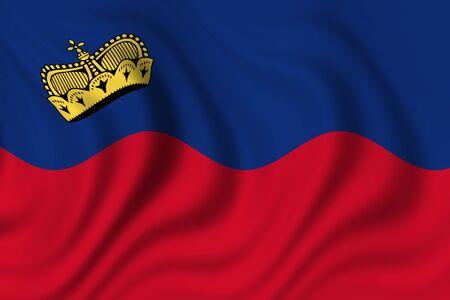 lichtenstein: flag of lichtenstein