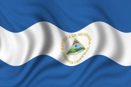 flag of nicaragua photo