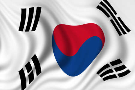flag of south korea photo