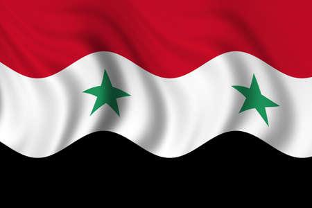 Bandera de Siria Foto de archivo - 8895506