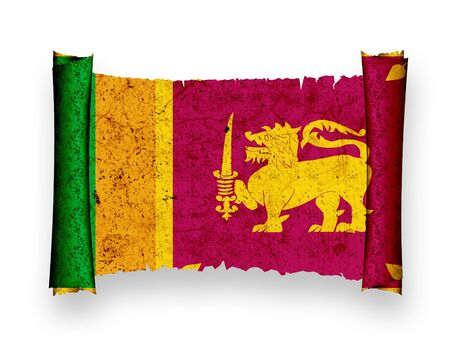 Flag of Sri Lanka Stock Photo - 8895721