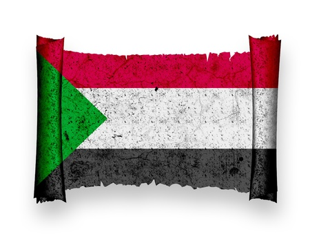 sudan: Flag of Sudan Stock Photo