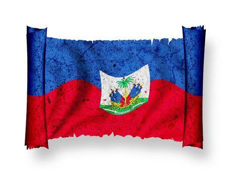 Bandera de Hait� Foto de archivo - 8896104
