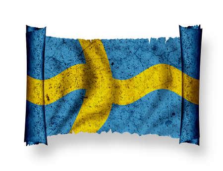 Bandiera della Svezia Archivio Fotografico - 8895847