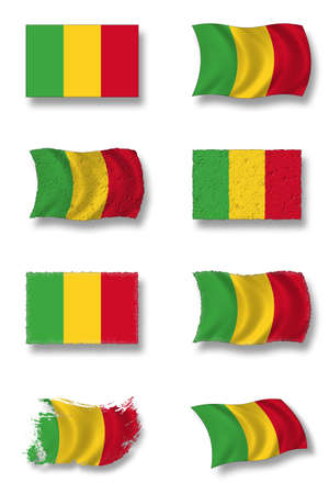 mali: flag of mali Stock Photo