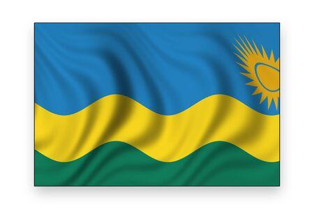 flag of rwanda photo