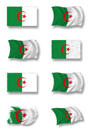 flag of algeria Stock Photo - 9131447