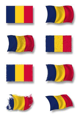 chad: flag of chad Stock Photo