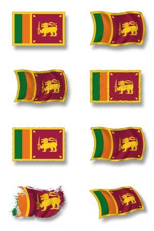flag of sri lanka photo