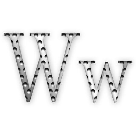 Letter - W photo