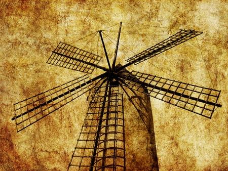 traditional windmill: traditional windmill in palma, majorca Stock Photo