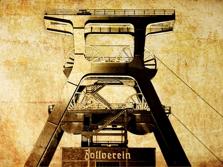 famous industries: Zeche Zollverein Stock Photo