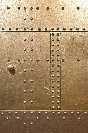 metal plate, rivets photo