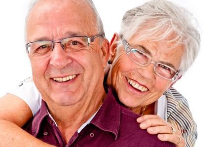 Happy senior couple in love photo