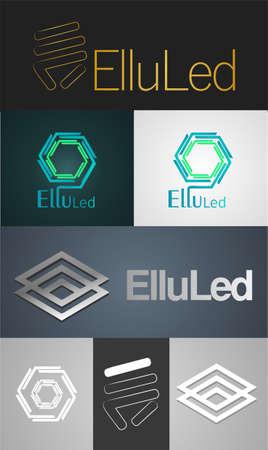 Modern logo with Brand Name ElluLed